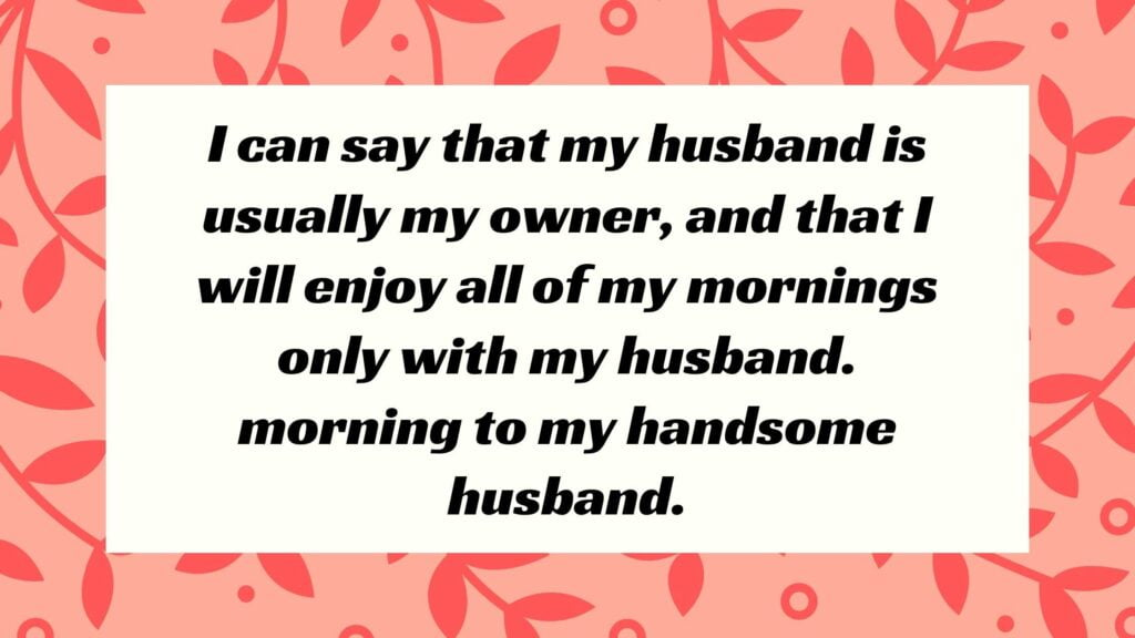 Best Good Morning Quotes for Husband