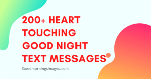 heart touching good night messages