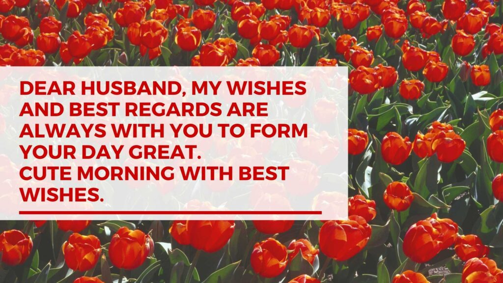 Sweet Good Morning Messages for Husband