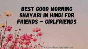 Best Good Morning Shayari In Hindi For Friends