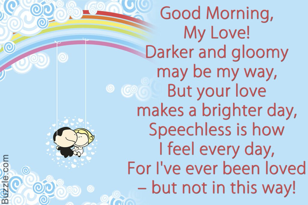 beautiful good morning poem for girlfriend