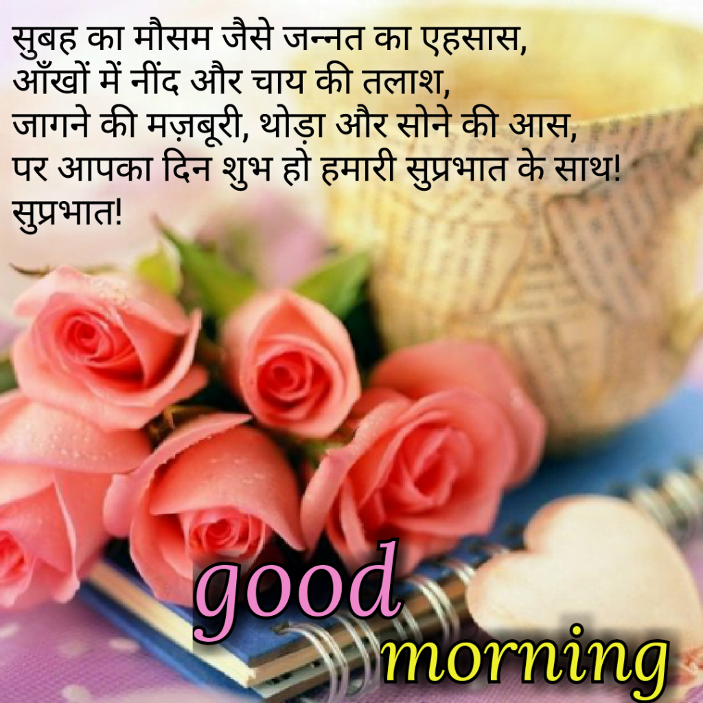 romantic good morning shayari in hindi